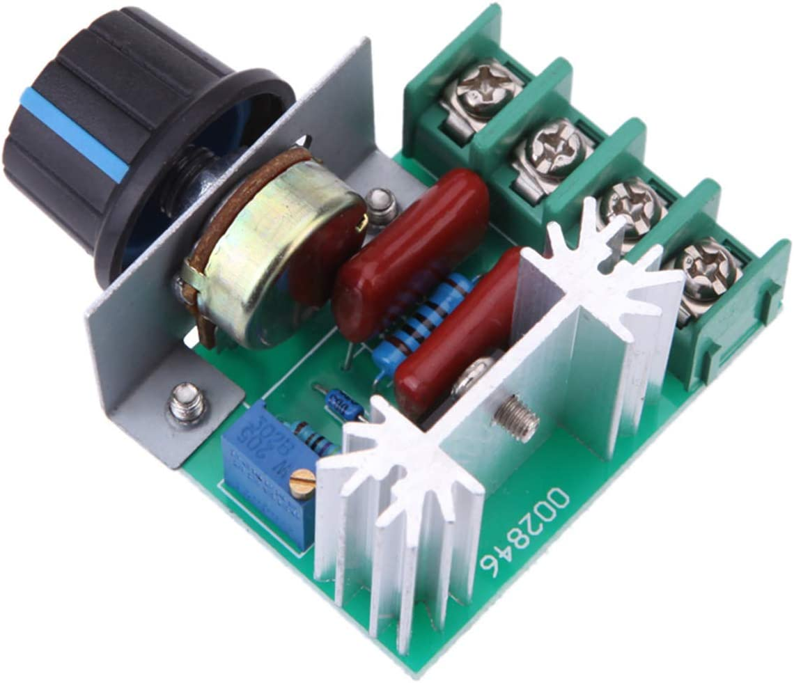 AC 220V Motor Speed Controller with LED On//Off Switch DC 0-220V Adjustable
