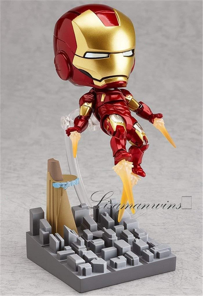 284 MINICARS Mini Marvel cute Iron man Action figure articulated 10 cm