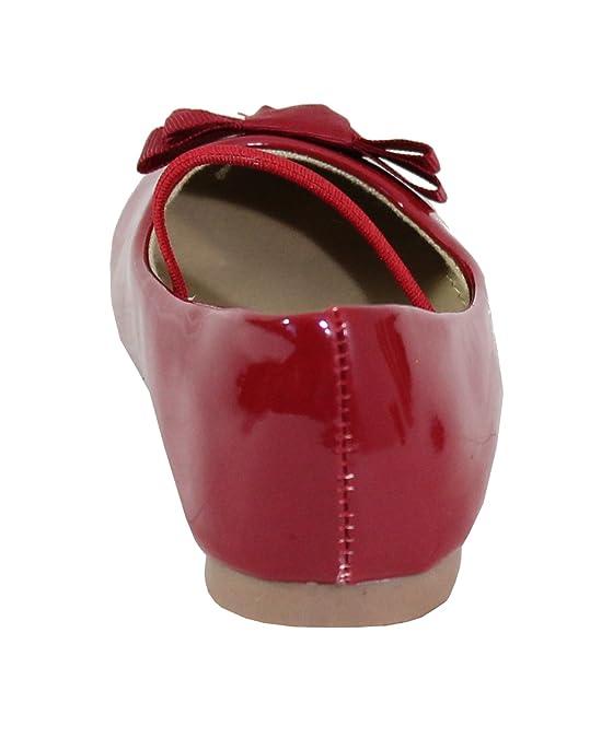 397cc0c37a0d0 By Shoes Ballerine Plate Style Vernis Pour enfant - Taille 23 - Red   Amazon.fr  Chaussures et Sacs