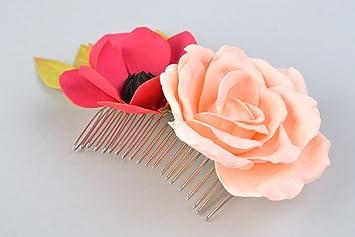 estilo clásico varios diseños vendible Peineta para el pelo hecho a mano de metal con flores ...