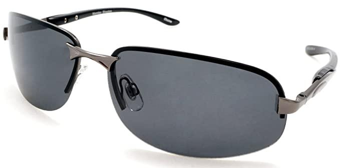 797b1666c30 Image Unavailable. Image not available for. Color  Unisex Polarized Semi-Rimless  Classic Stylish Sport Sunglasses - Cool Factor