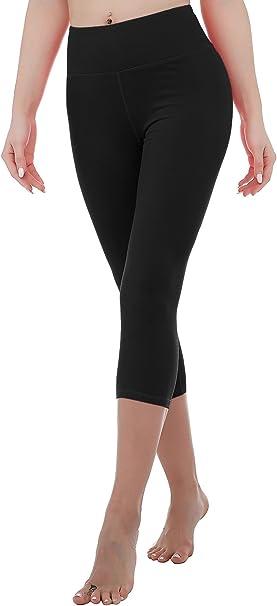 RIKKI Womens High Waist Yoga Capris Pants Active Running Workout Leggings