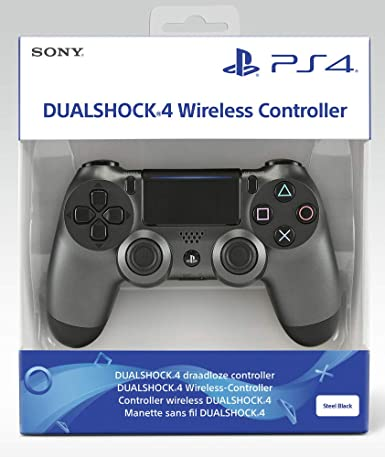 Comprar Sony DualShock 4 v2 Gamepad PlayStation 4 Negro, Acero inoxidable - Volante/mando (Gamepad, PlayStation 4, Analógico/Digital, D-pad, Hogar, Share, Inalámbrico y alámbrico, Bluetooth/USB)