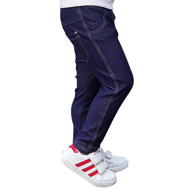 Reveryml Niña Pantalones Vaqueros para bebés 1-5 años ...