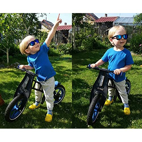 SojoS Kids Flexible Rubber Kids Polarized Wayfarer Sunglasses Age 3 to 12 SK205 SK210