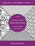 This is an origami coloring book that contains geometric-pattern coloring sheets that you can turn into 15 beautiful origami boxes with lids. The idea is that you first cut out the coloring sheets for the boxes and their lids, then color them...