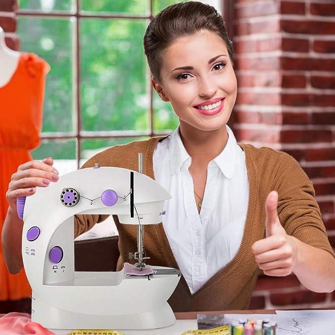 EYOBE Mini máquina de coser de mano Máquinas de coser eléctricas portátiles: Amazon.es: Bricolaje y herramientas