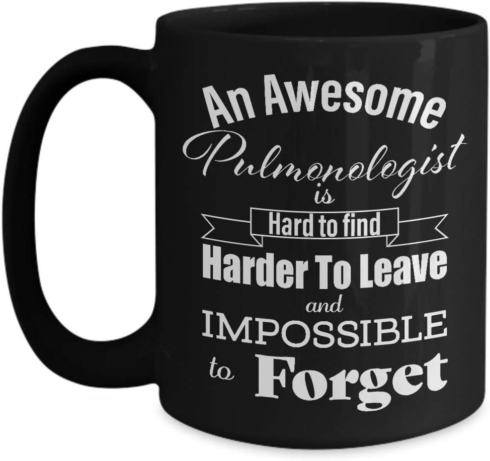 N\A Regalos de jubilación para Taza de café de neumólogo - Gracias, Agradecimiento, Dejar el Trabajo, Mejor, Despedida, irse, Memorable - médico de neumología médico respiratorio - Taza Negra -