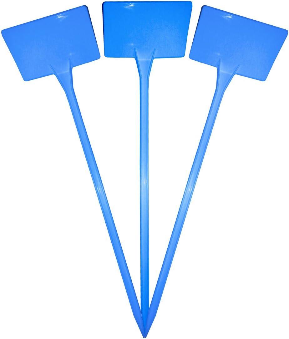 38cm Blue x 30 Elixir Gardens /® Plastic Stick In Angle Head Plant Pot Labels
