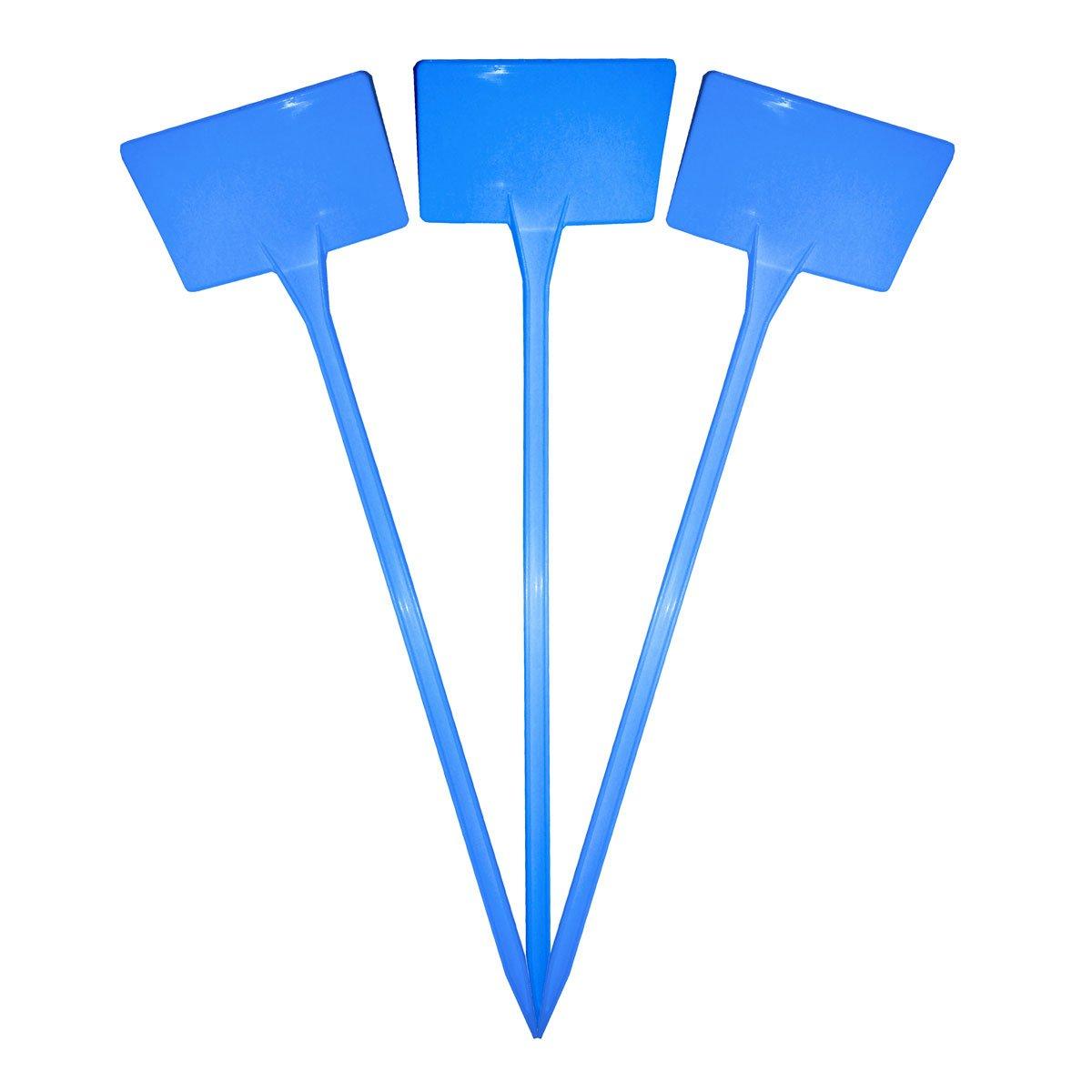38cm Blue x 40 Elixir Gardens /® Plastic Stick In Angle Head Plant Pot Labels