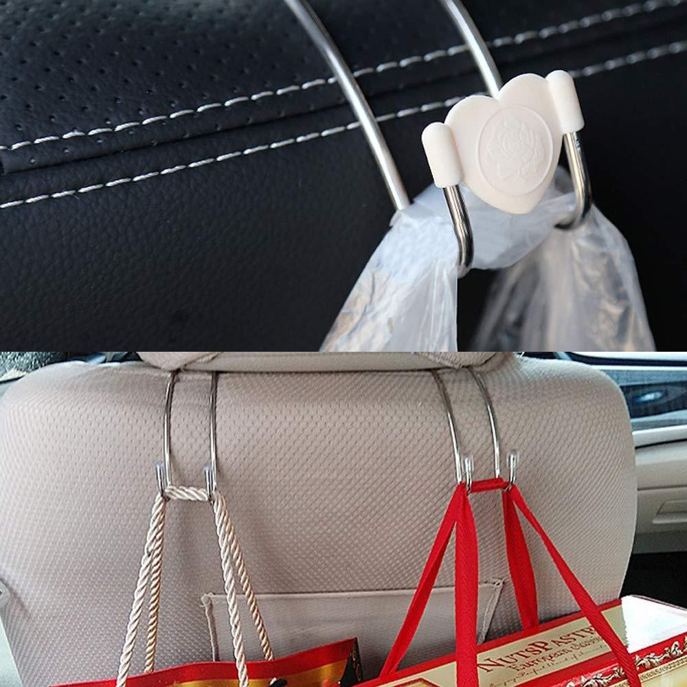 8 Stck Auto Hooks Car Hangers Organizer Senhai Fahrzeug Rückenlehne Hakenhalter Zum Kleider Tasche Geldbörsen 4 Mit Bunten Beschützer Karte Baby