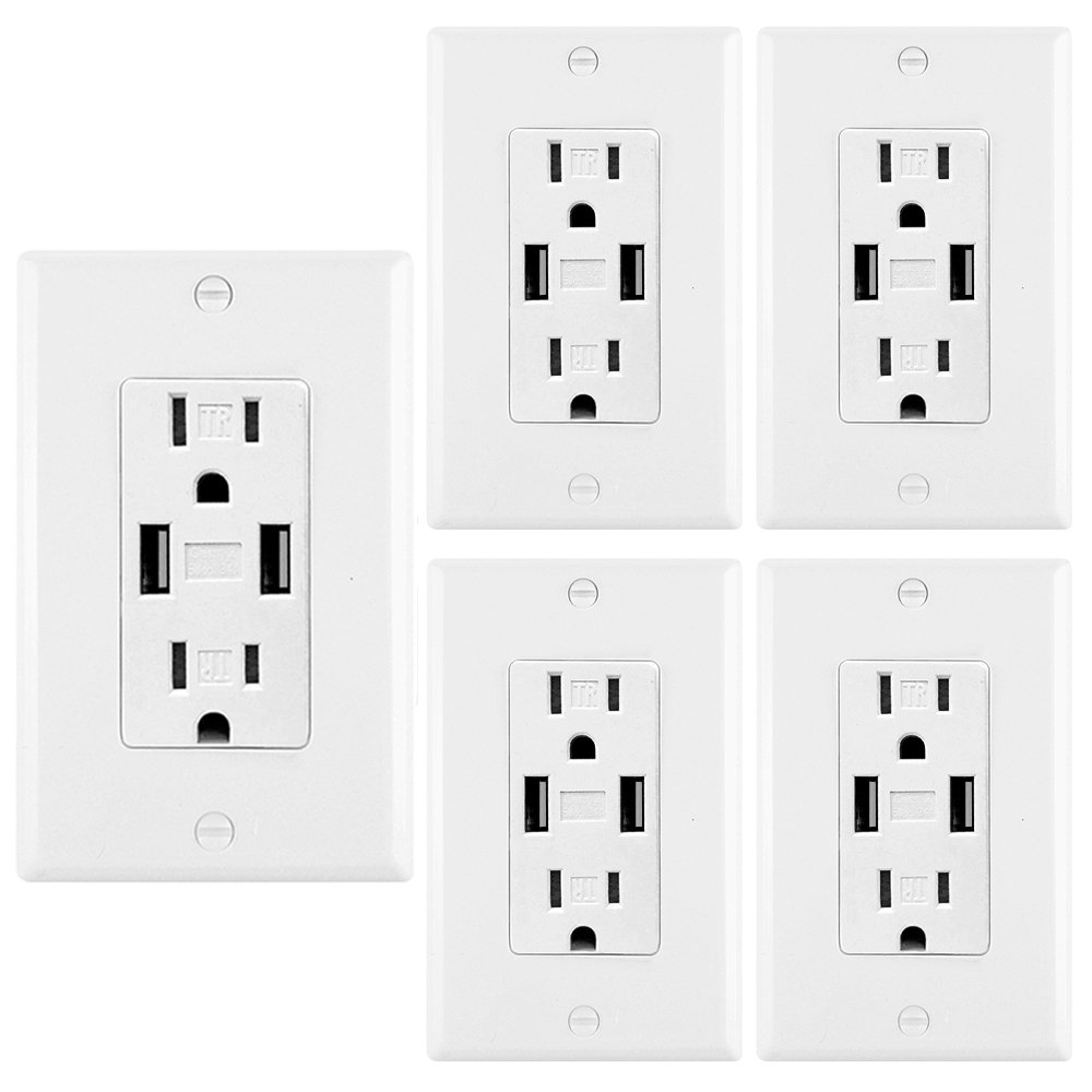特別価格 BESTTEN 5PK ライトスイッチ B078WRFC7W with Wall 2U2A Wall Charger with 5PK 2U2A Wall Charger with 5PK, 三重みどりの里:9c8bc491 --- a0267596.xsph.ru