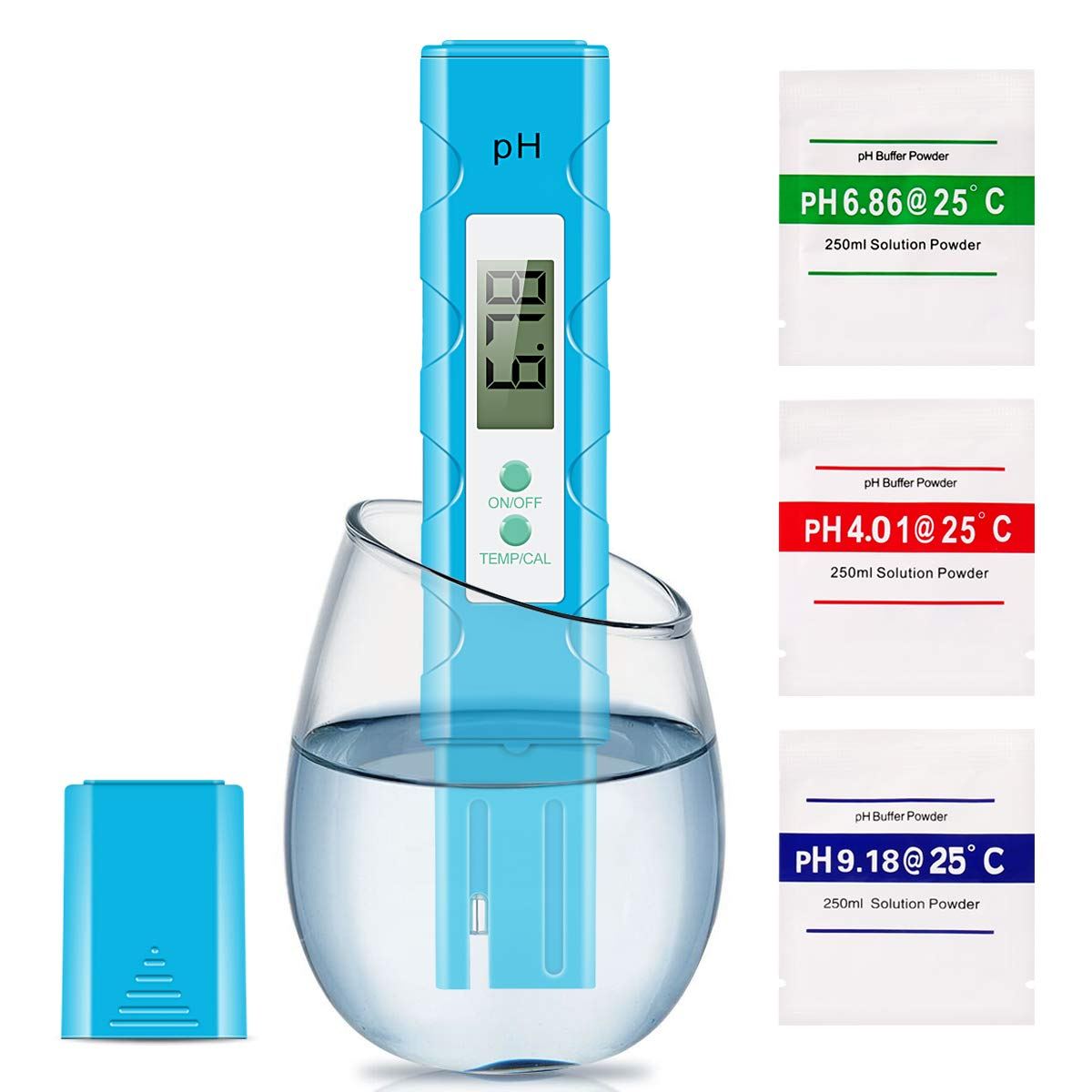 Digital PH Meter, 0.01 High Accuracy Pocket Size Meter/PH 0-14.0 Measuring Range, Quality Tester for Household Drinking Water, Swimming Pools, Aquariums by Pop V