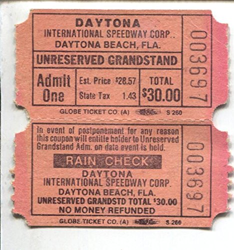 Daytona International Speedway NASCAR Race Ticket 1981-Daytona 500-FN - Daytona 500 Tickets