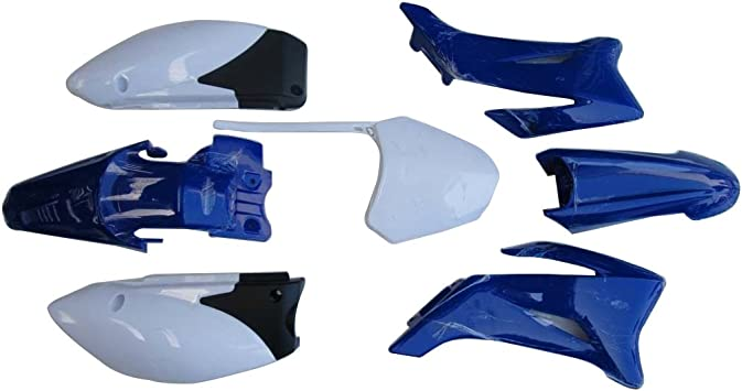 YAMAHA TTR110 Plastic Fairings Fender Blue Body Kit Dirt Pit Bike 110cc 125cc