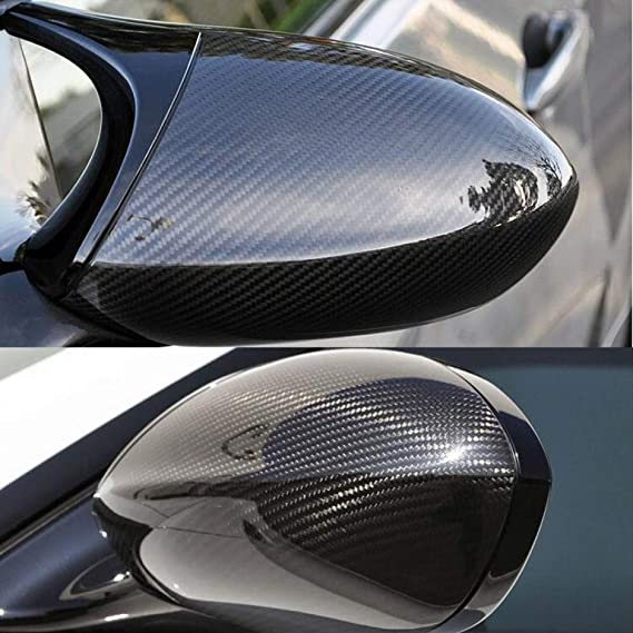ZYHZJC Rearview Mirror Cover,for BMW 3 Series pre-LCI E90 E91 05-07 /& E92 E93 06-09 ABS Gloss Black Replacement Style Mirror Cover