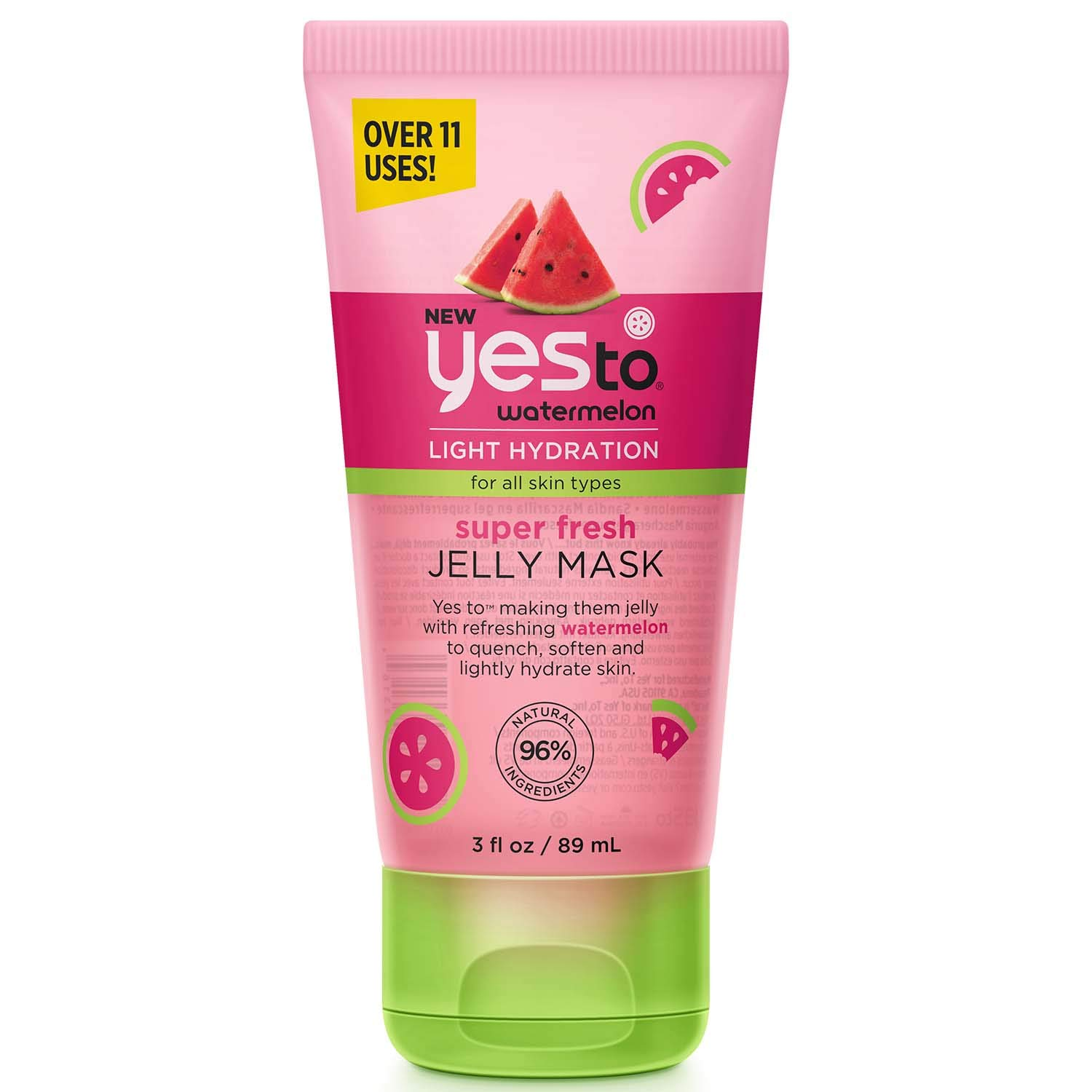 Yes To Watermelon Light Hydration Super Fresh Jelly Mask for All Skin Types, 3 Fluid Ounce