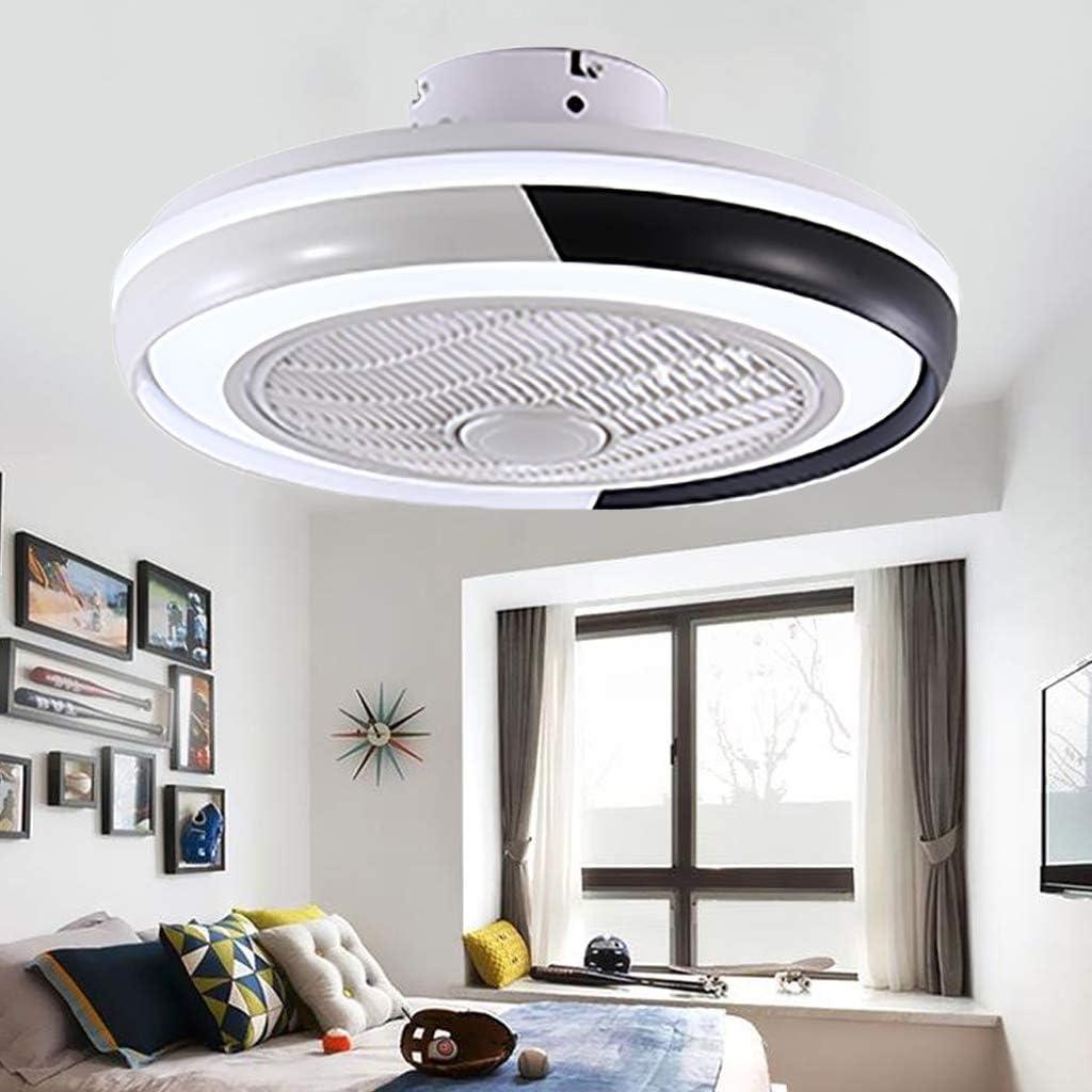 Ventiladores De Techo Con 48W Lámpara Ventilador De Techo Con Luces LED Control Remoto Regulable Ultra Silenciosa Para Ventilador Dormitorio De Sala Moderna Habitación Para Niños Iluminación (Black)