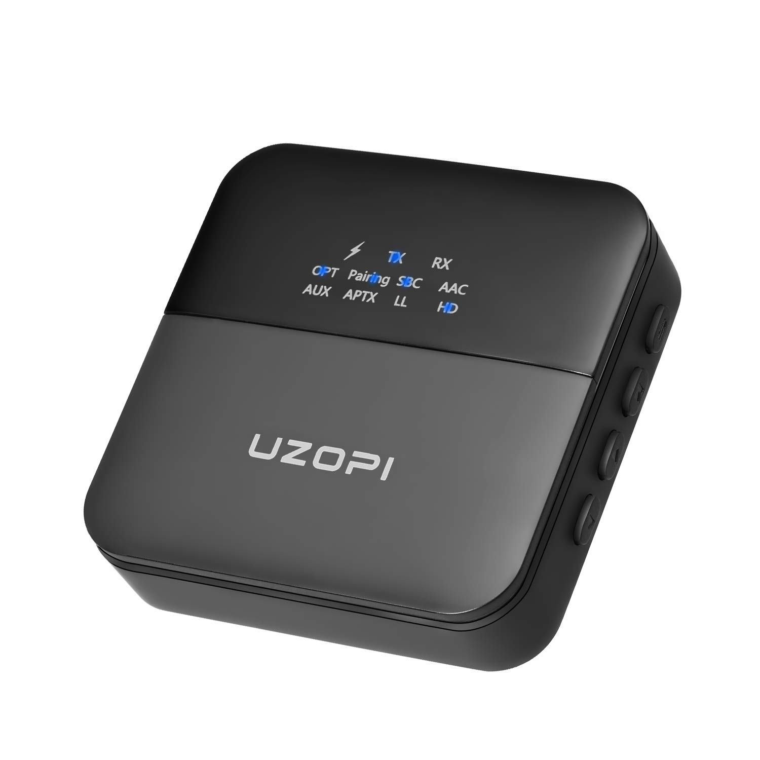 UZOPI Bluetooth 5.0 Transmitter Receiver, 2-in-1 Wireless Audio Adapter aptX Low Latency HD for TV Car Music Streaming Stereo Sound System