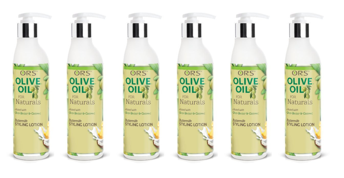 (PACK OF 6) ORS Olive Oil for Naturals ButterMilk Styling Lotion (8.5 oz.)