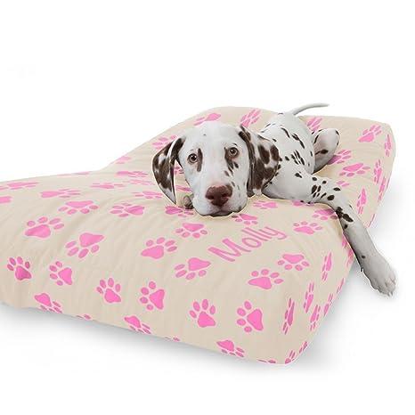 rucomfy Bean bags Cama para Perros de Ante sintético de Lujo, Color Rosa Cereza,