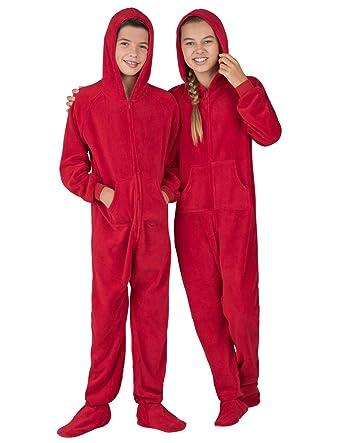 306a023261 Amazon.com  Footed Pajamas - Heatwave Kids Hoodie Chenille Onesie ...