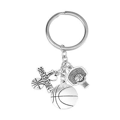1 unid tema de baloncesto llavero aleación llavero regalo de moda colgante adorno: Juguetes y juegos