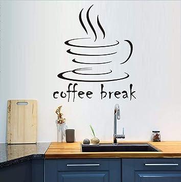 Zlxzlx Coffee Break Vinilo Etiqueta De La Pared Para La Cocina ...