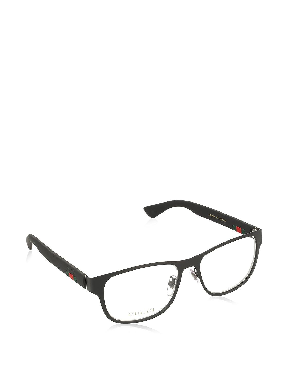 gucci gg 0013o metal square eyeglasses 55mm - Womens Gucci Frames