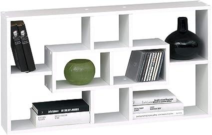 SB-Design 289-001 Lasse Estantería de Pared, Madera, Blanco, 85x16x47.5 cm