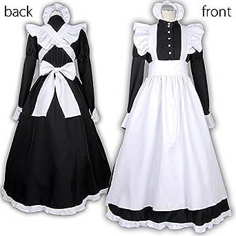 Amazon | 英国風 メイド服 衣装4...