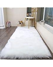 Faux Sheepskin Rug ,Rectangular,Fur Faux Fleece Fluffy Area Rugs Anti-Skid Yoga Carpet for Living Room Bedroom Sofa Floor Rugs