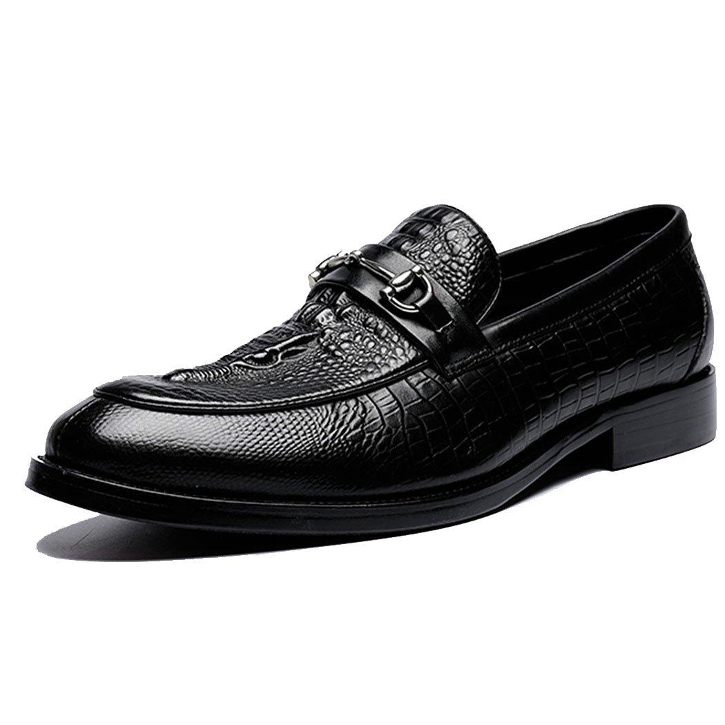 GAOLIXIA Herren Echtes Leder Geschäft Schuhe Formale Arbeitsschuhe Wies Mode Hochzeit Bankett Kleid Schuhe Freizeitschuhe Schwarz Größe