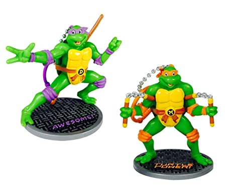 Teenage Mutant Ninja Turtles Collectible Figurines Assorted (Donatello & Michelangelo)