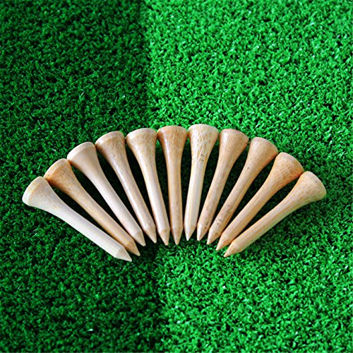 New Wood Golf Tees (Gfortune 100pcs Professional Wooden Golf Tees Ball Marker Aerodynamically Designed Low-resistance Tip Eco-friendly Wood Golf Tee (Wooden, 42mm/ 1.65 Inch))