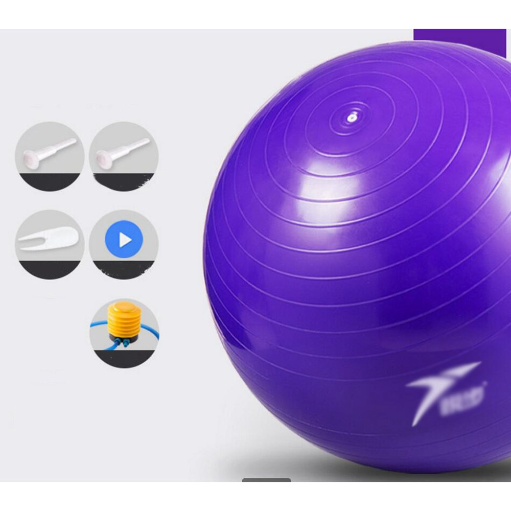 Wly&Home Yogaball, Fitnessball 55-75 Cm Gesundheitsballstuhl Mit Stabilitätsring, Rutschsicheres Und Explosionssicheres Yoga, Pilates Oder Geburtstherapie Zu Hause, Im Büro Oder Im Fitnessstudio