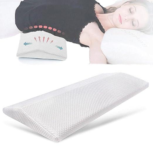 SMELOV ® Dormir Almohada para dolor de espalda baja, cuña de espuma de memoria soporte Lumbar almohada y ortopédica cintura cojín para ciática, ...