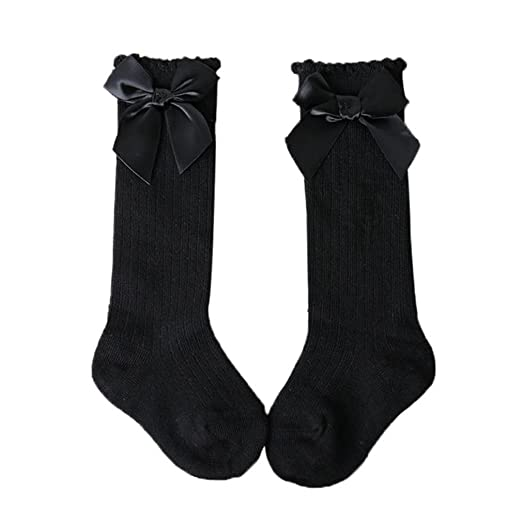 Cotton Socks Boys Girl Meias Para Bebe Newborn Calcetines Mujer Knee High Socks Black M