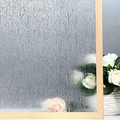 Velimax Rain Glass Film Privacy Window Film Decorative Glass Film Rain Film Static Cling Film 35.4''x 78.7'' by Velimax