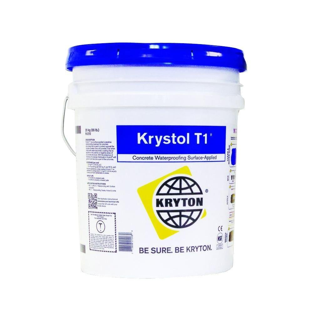 5-gal. Surface-Applied Crystalline Waterproofing Application Waterproofing for Concrete and Block | Basement Waterproof Solution | Waterproof Concrete