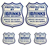Best BRINKS Outdoor Securities - 2 Home Security Yard Signs w/ 3 Security Review