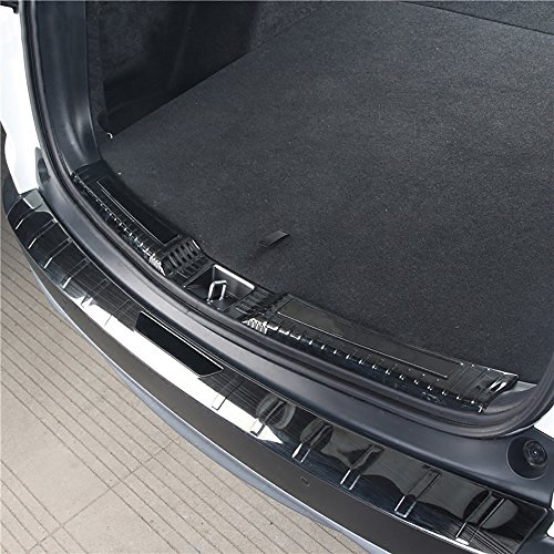 Kust hf3791W Car Rear Bumper Guard, Rear Door Sill Protector Fit For Honda 2017 2018 Crv,Pack Of 1 Pair Stainless Steel Trunk Rear Bumper Protector