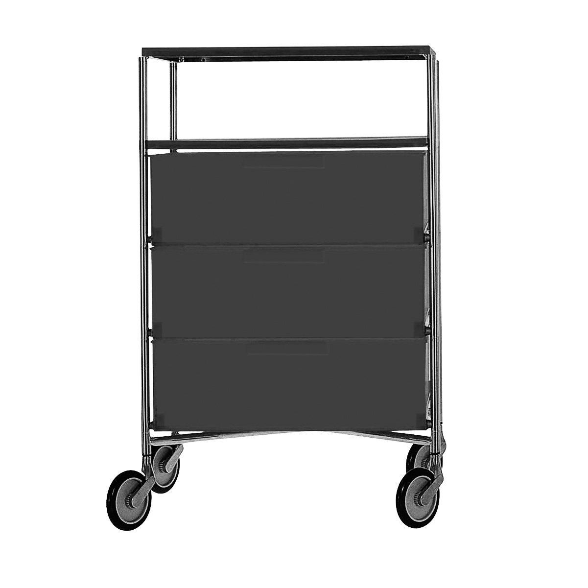 Kartell 2020L5 Container Mobil, 4 Schubladen, matt schiefergrau