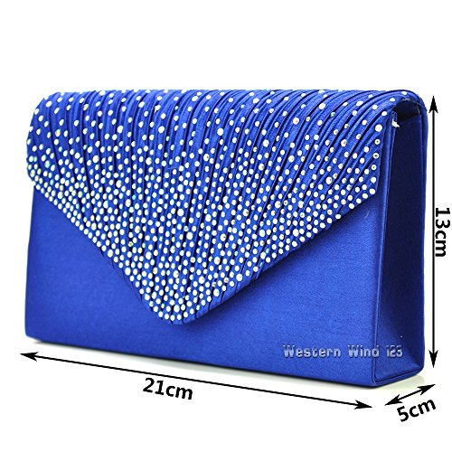 lace Satin bridal cream TM navy blue clutch Ladies lace royal black red handbag evening Wocharm fashion prom satin satin wedding bag U8aAww