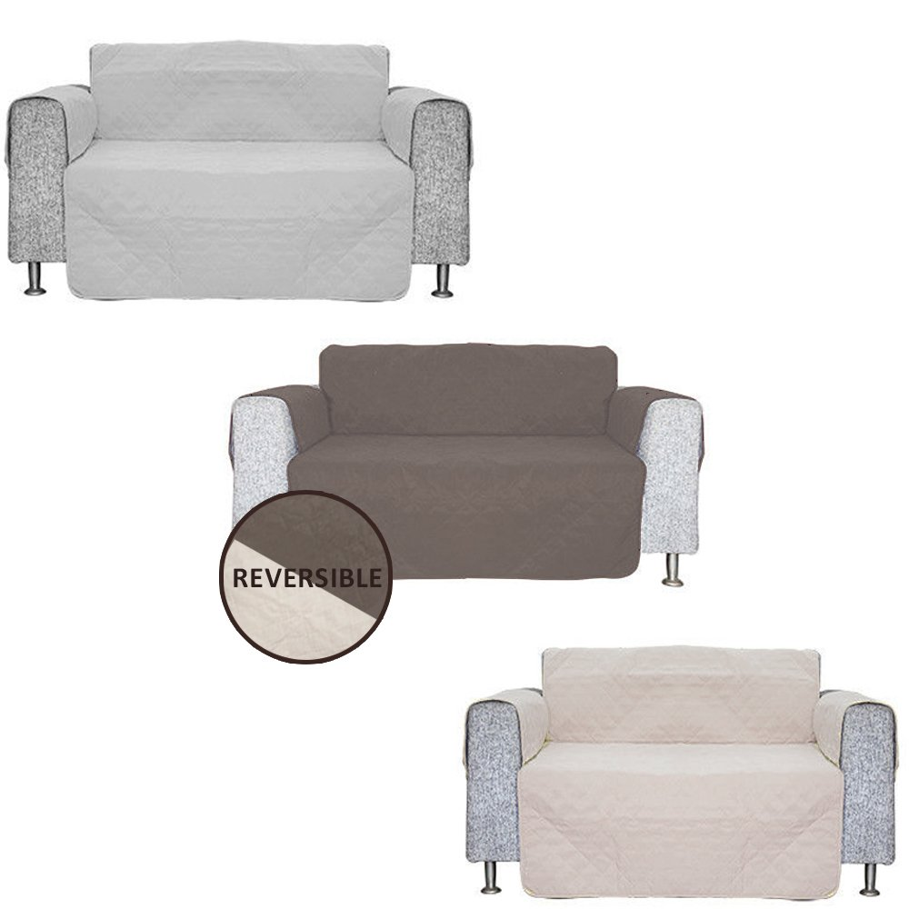 Ashley Mills 65 x 75 Polyester Armchair Sofa Cover Protector Brown Touch Global Ltd