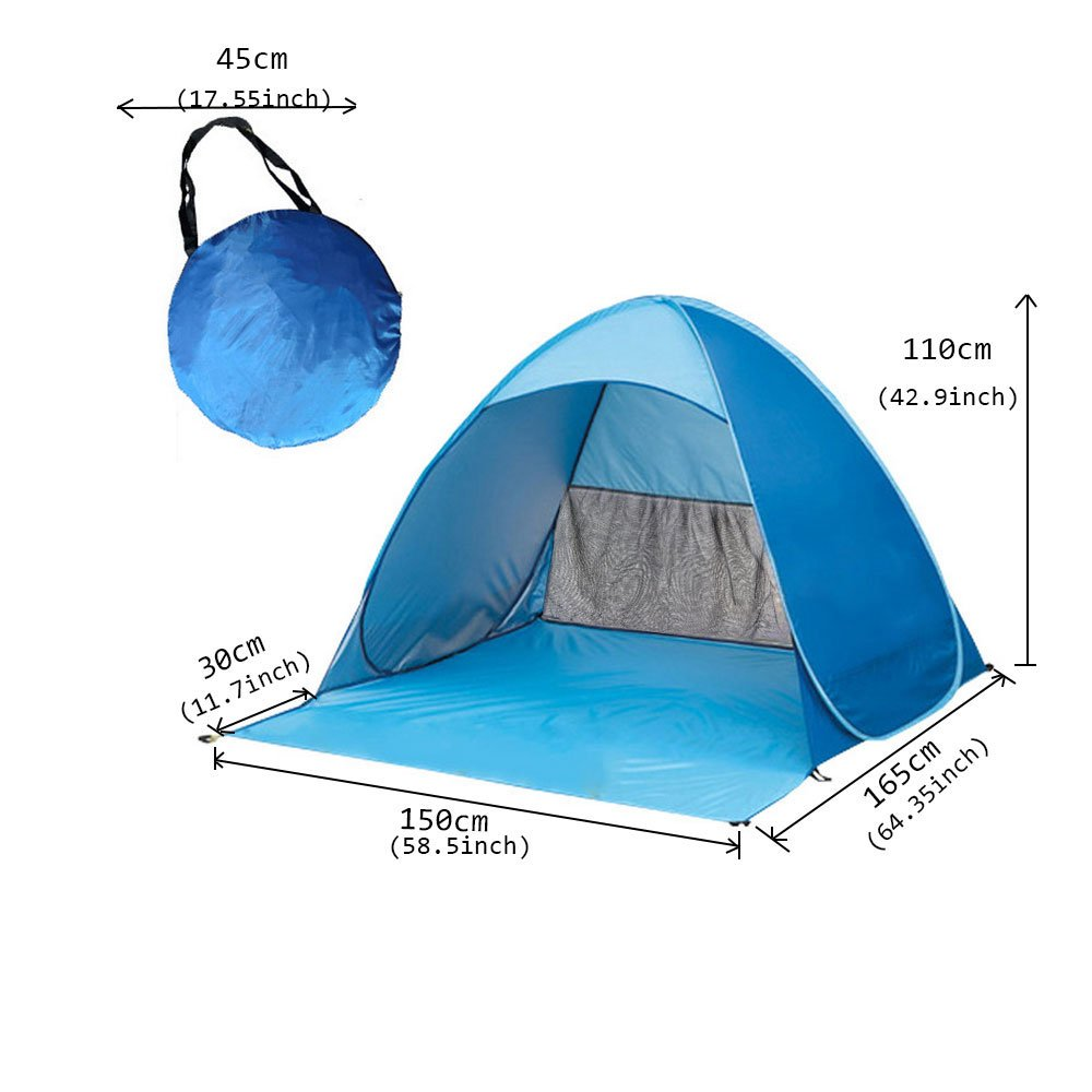 SP038L Xcellent Global Pop Up Beach Tent Cabana Sun Shade Shelter Canopy with UV Guard UPF 50