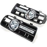 TOOGOO 2 X Luz LED de parachoque Luces antiniebla Faros Delanteros para 97-06 VW