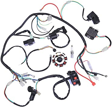 wiring harness kit for atv amazon com wiring harness kit wire loom complete electrics  wiring harness kit wire loom