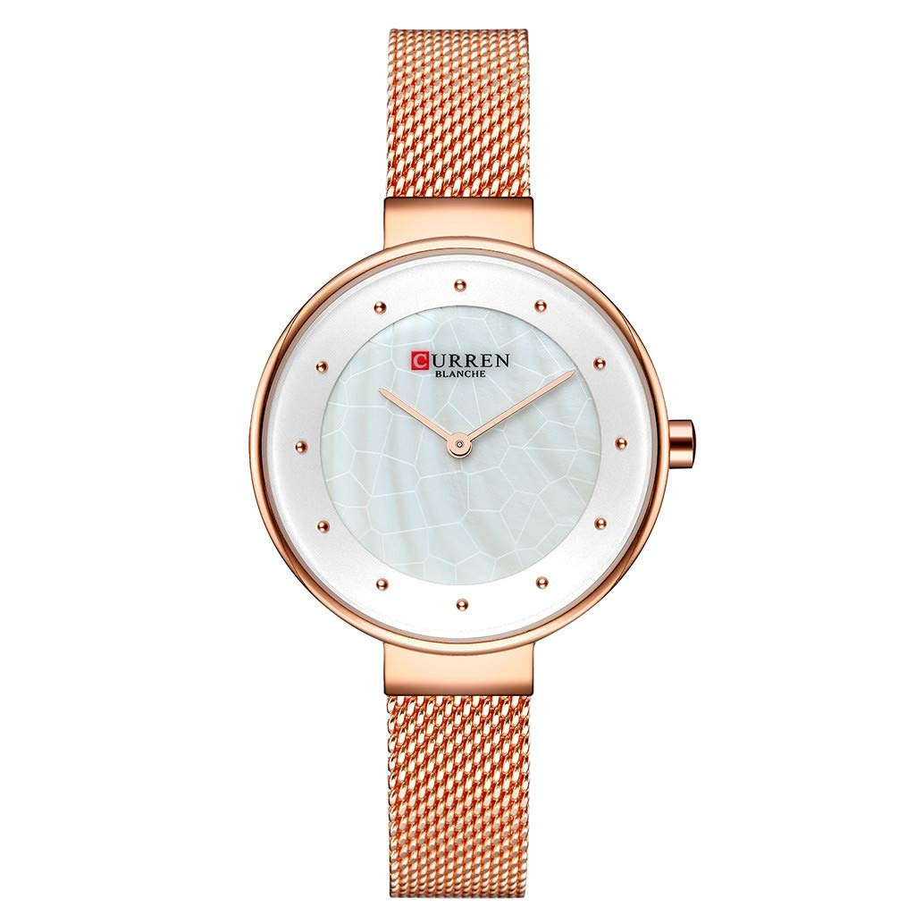 CHLZYD Waterproof Simple and Stylish Marbled Road Dial Ultra Thin Mesh Belt Wrist Classics Gifts Strap Vintage Ladies Women Watch