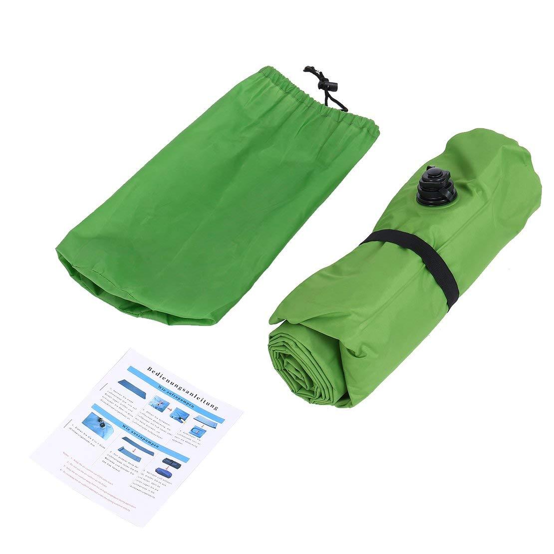 Sanzhileg Ultralight Aufblasbare Schlafmatte Matratze Kompakte Wasserdichte Matte für Camping Wandern Travling Outdoor Aktivitäten - Grün